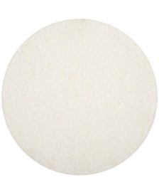 """Polar White 5'1"""" x 5'1"""" Round Area Rug"""