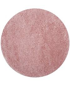 "Polar Light Pink 5'1"" x 5'1"" Round Area Rug"
