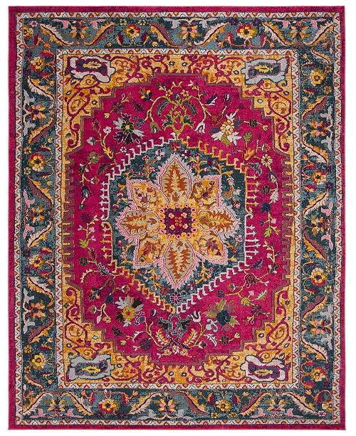 Safavieh Phoenix Fuchsia and Blue 9' x 12' Area Rug