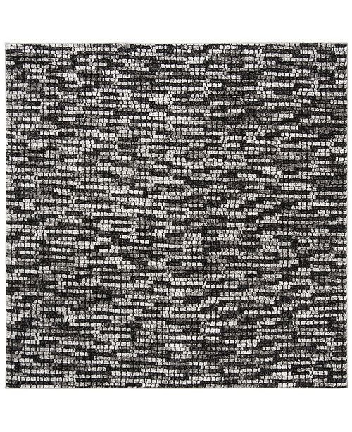 "Safavieh Porcello Light Gray and Charcoal 6'7"" x 6'7"" Square Area Rug"