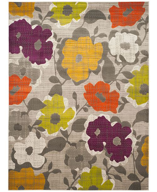 Safavieh Porcello Gray and Yellow 8' x 10' Area Rug