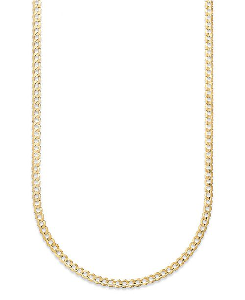 695100ae94f4 Italian Gold Curb Chain 22
