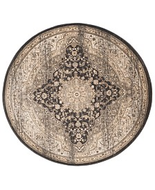 "Safavieh Vintage Black and Ivory 6'7"" x 6'7"" Round Area Rug"