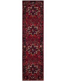 "Vintage Hamadan Red and Multi 2'2"" x 8' Runner Area Rug"
