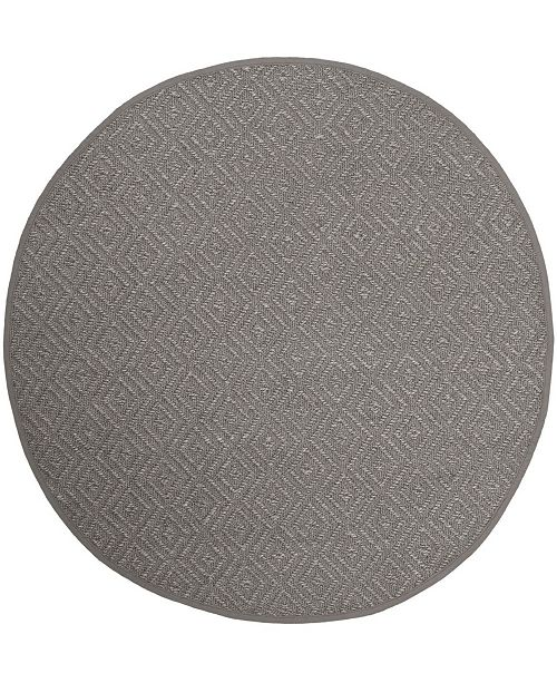 Safavieh Natural Fiber Light Gray and Gray 6' x 6' Sisal Weave Round Area Rug