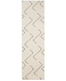 """Olympia Cream and Grey 2'3"""" x 8' Runner Area Rug"""