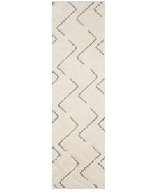 "Safavieh Olympia Cream and Grey 2'3"" x 8' Runner Area Rug"