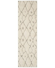 """Olympia Cream and Beige 2'3"""" x 8' Runner Area Rug"""