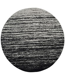 Safavieh Adirondack Silver and Black 6' x 6' Round Area Rug