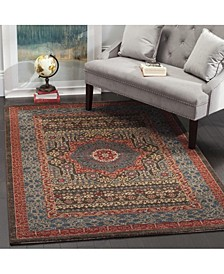 "Mahal Navy and Red 5'1"" x 7'7"" Area Rug"