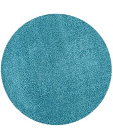 "Laguna Turquoise 6'7"" x 6'7"" Round Area Rug"