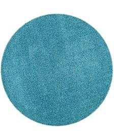"""Safavieh Laguna Turquoise 6'7"""" x 6'7"""" Round Area Rug"""