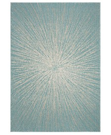 "Safavieh Evoke Aqua and Ivory 5'1"" x 7'6"" Area Rug"