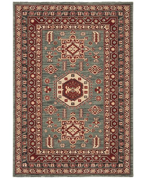 "Safavieh Mahal Turquoise and Cream 5'1"" x 7'7"" Area Rug"