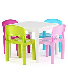 Kids Plastic Table and 4 Chairs