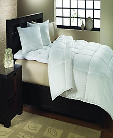 St. James Home Year Round Dobby White Goose Down Comforter King