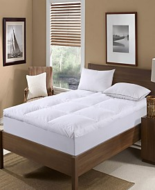 St. James Home Nano Feather Filled Feather Bed with Cotton Cover Cal King