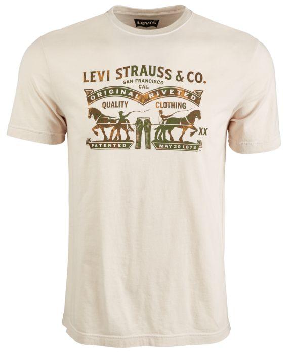 Levis® Mens Delroy Logo T-Shirt, Tan/Beige, Size: M