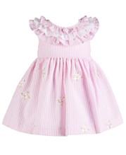 d6c547006 Bonnie Baby Baby Girls Embroidered Seersucker Dress