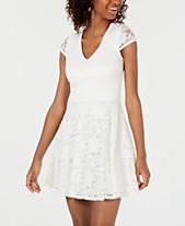 93a1f6d6d618 B Darlin Juniors' Lace Tie-Back Fit & Flare Dress