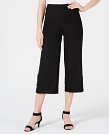 JM Collection Cropped Wide-Leg Capris, Created for Macy's