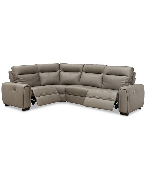 Pleasant Cheadle 4 Pc Leather L Sectional Sofa With 2 Power Recliners Created For Macys Andrewgaddart Wooden Chair Designs For Living Room Andrewgaddartcom