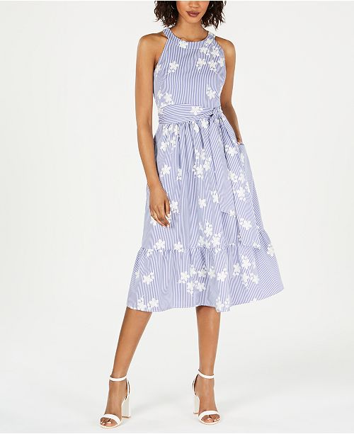 a97eeae7b38a6 Jessica Howard Embroidered Fit & Flare Dress & Reviews - Dresses ...
