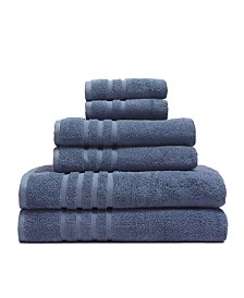 Elite Home 6-Pc. Bamboo from Rayon Towel Set