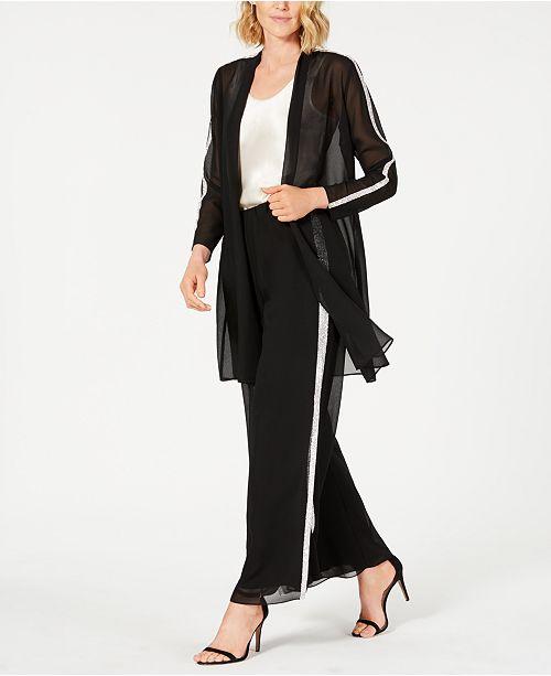 66547fd4 Rhinestone-Trim Jacket & Pants, Created for Macy's