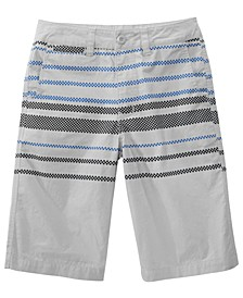 Big Boys Sector Regular-Fit Checker-Stripe Shorts