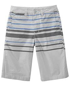 Big Boys Sector Regular-Fit Checker-Stripe Shorts