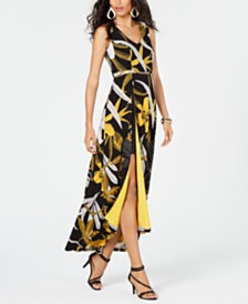 Thalia Sodi Printed Belted-Detail Maxi Dress, Created for Macy's
