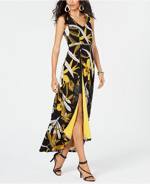 b635b3e72b245 ... Thalia Sodi Printed Belted-Detail Maxi Dress, Created for Macy's ...