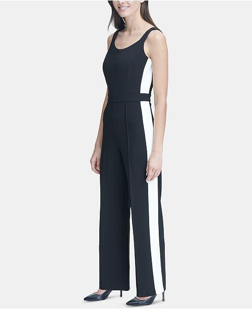 b9596e1ad Tommy Hilfiger Sleeveless Side-Stripe Jumpsuit & Reviews - Pants ...
