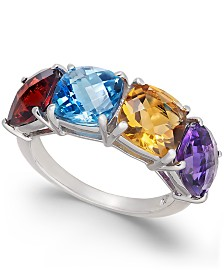 Multi-Gemstone (6-1/2 ct. t.w.) Statement Ring in Sterling Silver