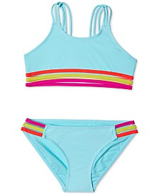 Summer Crush Big Girls 2-Pc. Stripes Out Bikini