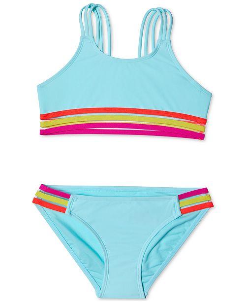 Summer Crush Big Girls 2-Pc. Stripes Out Bikini