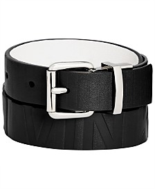 Calvin Klein Big Boys Reversible Embossed Belt