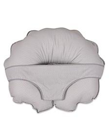 Cuddle-U Original Nursing Pillow And More, Gray Pin Dot