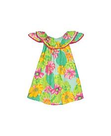 Masala Baby Girls Flutter Dress Cactus Floral