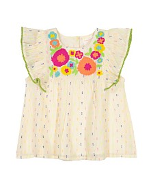 Masala Baby Girls Ruffle Top Magic Floral