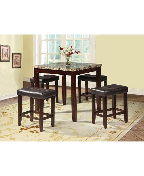 Acme Furniture Rolle 5-Piece Counter Height Set