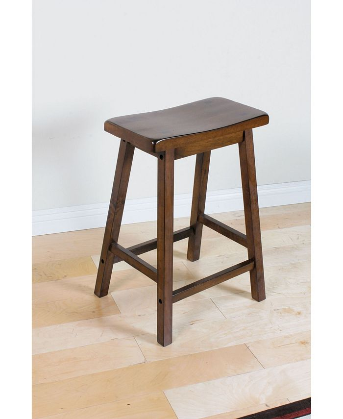 Acme Furniture - ACME Gaucho Counter Height Stool Set of 2, Walnut