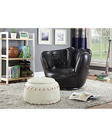 All Star 2-Piece Chair & Ottoman