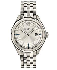 Men's Swiss Glaze Stainless Steel Bracelet Watch 43mm
