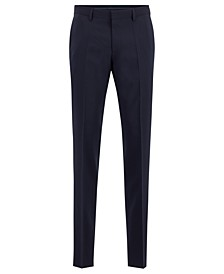 BOSS Men's Genesis Melange Slim-Fit Wool Trousers