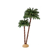 Puleo International Premium 3.5 ft./6 ft. Pre-Lit Artificial Palm Tree with 175 UL-Listed Lights