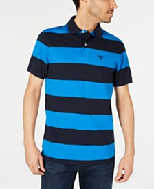 Barbour Men's Harren Logo Graphic Stripe Polo