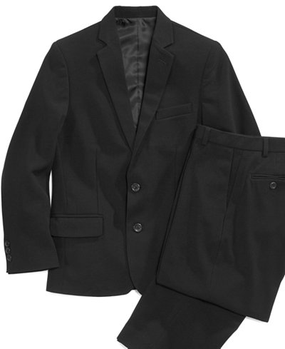 Calvin Klein Bi-Stretch Suit Jacket & Dress Pants, Big Boys Husky