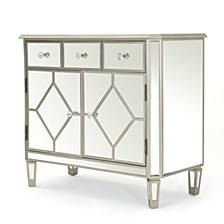 Torin Mirrored 5 Drawer Cabinet End Table, Quick Ship